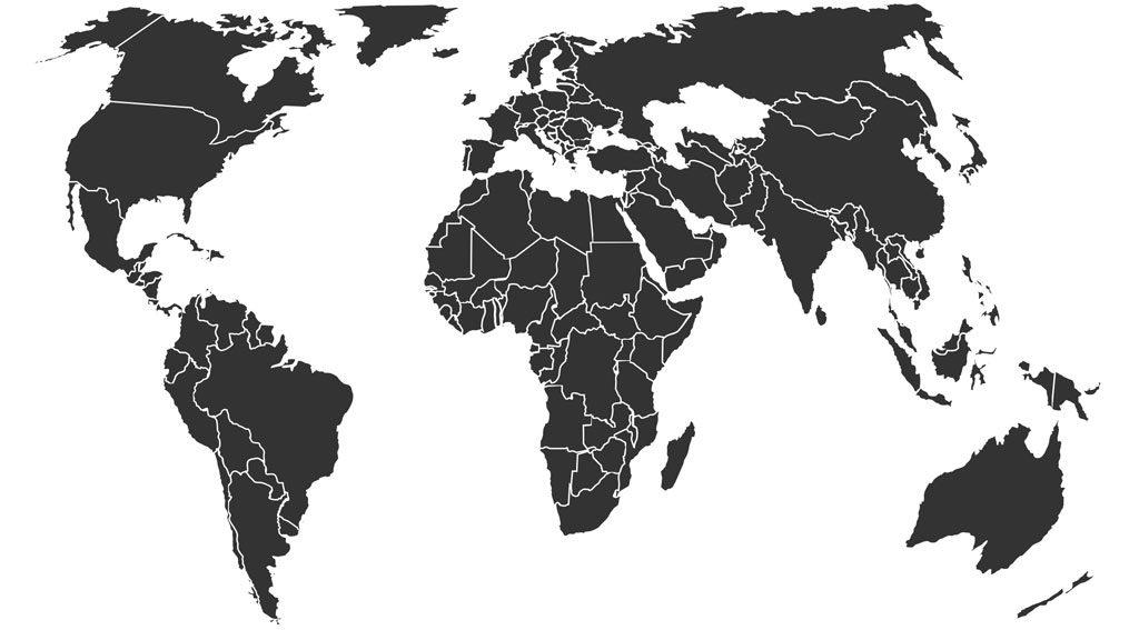 Weltkarte Kunden
